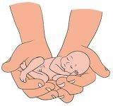 Тактильный контакт новорожденного с мамой