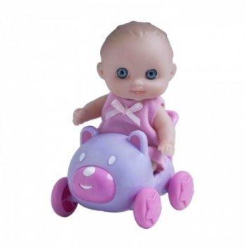 Пупс-малыш с машинкой JC Toys, 13 см