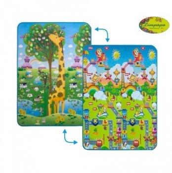 Детский двусторонний коврик Большой жираф и Веселье животных Limpopo