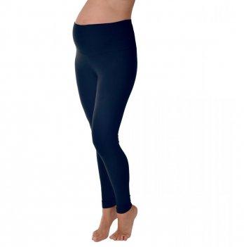Леггинсы эластичные для беременных утепленные синие Мамин дом 630