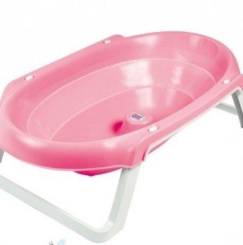 Детская анатомическая ванночка Okbaby Onda Slim, розовая