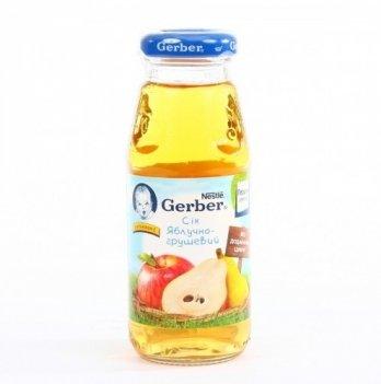 Сок Nestle Gerber яблочно-грушевый 175 г