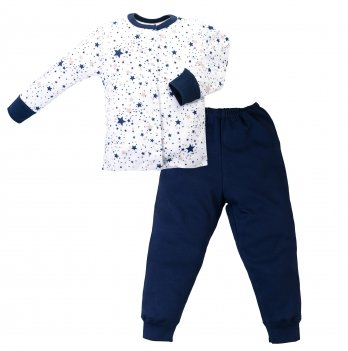 Пижама интерлок SeeYou 000000013 бело-синий