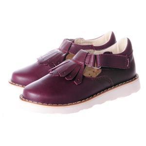 Туфли кожаные Mrugala вишневого цвета