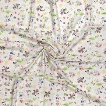 Пеленка для детей из фланели Белый 90*100 см 003-012