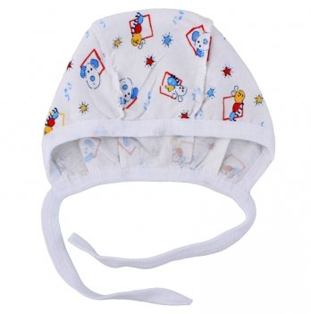 Чепчик для новорожденныхPaMaYa Белый 0-3 мес 005-020_2