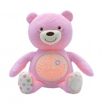 Игрушка музыкальная Медвежонок Chicco 08015.10 розовый