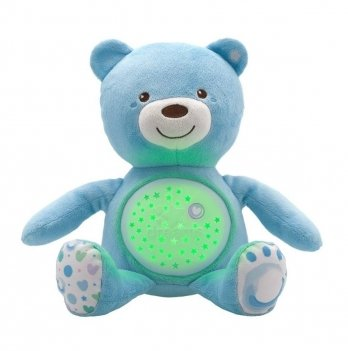Игрушка музыкальная Медвежонок Chicco 08015.20 голубой