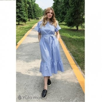 Платье для беременных и кормящих мам MySecret Zanzibar DR-29.085 бело-голубой