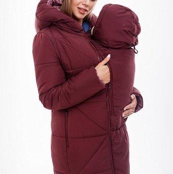 Пальто зимнее для беременных и кормящих мам+вставка MySecret, ANGIE PLUS OW-48.033 Размер L