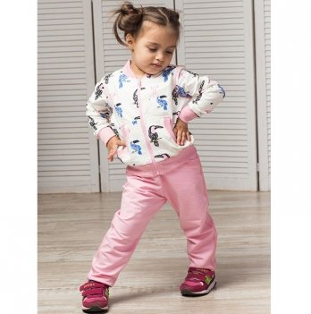 Спортивный костюм для девочки Joiks, от 9 месяцев до 5 лет, розовый/рисунок