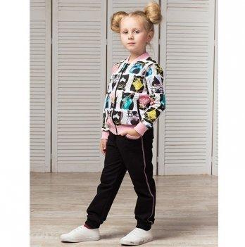 Костюм для девочки Joiks, возраст от 2 до 7 лет, черный/рисунок