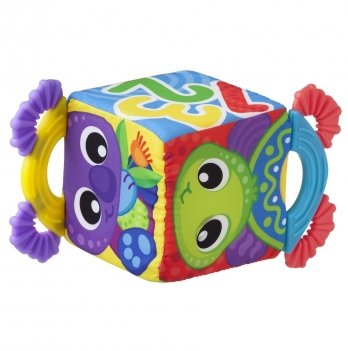 Прорезыватель Playgro, Развивающий кубик, 0186376