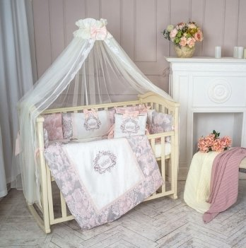 Комплект Маленькая Соня Fiori, 7 предметов, розовый