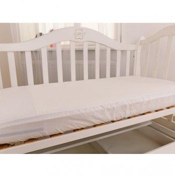 Наматрасник на резинке Twins Белый 120х60 см