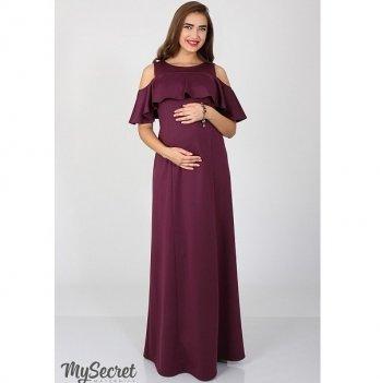 Платье нарядное для беременных и кормящих мам MySecret Delicate DR-36.301 бордовый