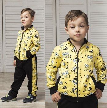 Спортивный костюм для мальчика Joiks, от 9 месяцев до 5 лет, желтый/рисунок