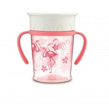 Чашка непроливайка Canpol babies 360 Jungle Коралловый 56/504 270 мл