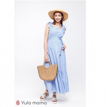 Сарафан для беременных и кормящих MySecret Blue Бело-голубой SF-20.021