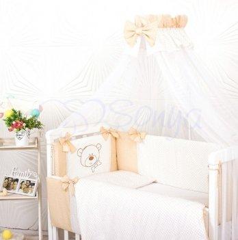 Балдахин на кроватку Маленькая Соня SmileБелый/Бежевый 053241