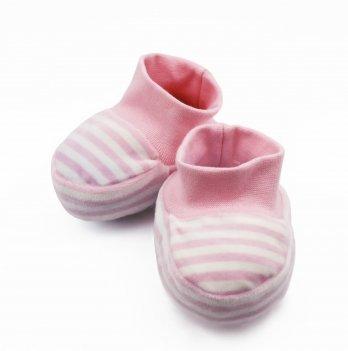 Пинетки DANAYA 030E бело-розовая полоска
