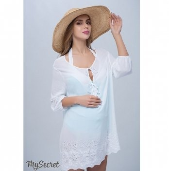 Туника пляжная для беременных и кормящих мам MySecret Emmi TN-27.051 белый