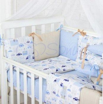 Комплект в кроватку Маленькая Соня, Baby Design Premium City, 3 предметов