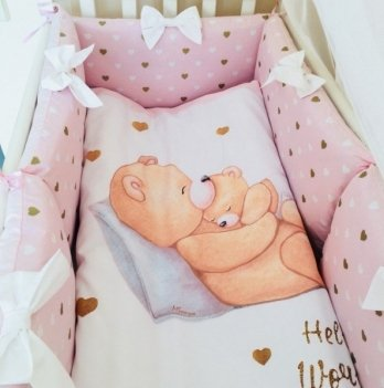 Комплект Happy Baby, Маленькая Соня, 6 предметов, розовый