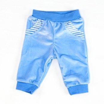Велюровые штаники DANAYA голубые 042-1G