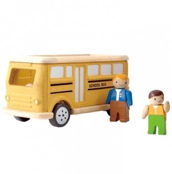 Деревянная игрушка PlanToys® Школьный автобус