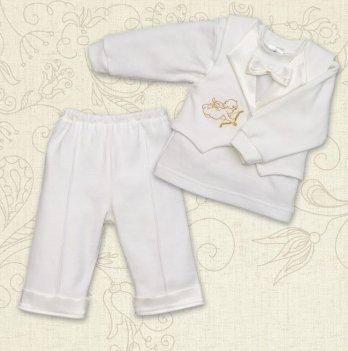 Костюм для Крещения мальчика, Бетис Міні Бос-2, д.р., интерлок, молочный