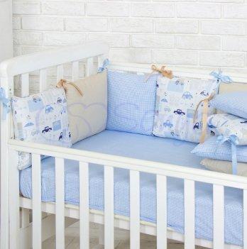 Защита для кроватки Маленькая соня Baby Design Премиум City 0720108