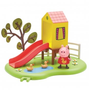 Игровой набор Peppa, Игровая площадка Пеппы, домик с горкой