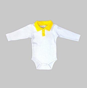Боди DANAYA белый с желтым 065G