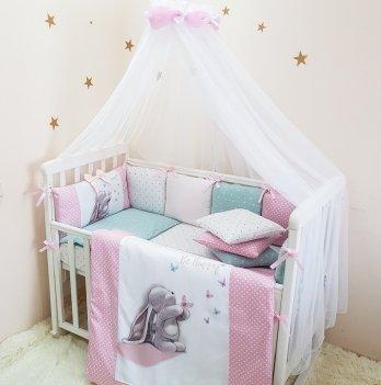 Балдахин на кроватку Маленькая Соня AkvarelРозовый/Белый 053509