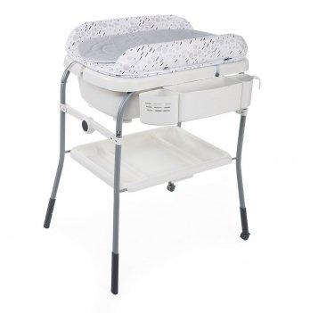 Пеленальный столик с ванночкой Chicco Cuddle & Bubble Светло-серый 79348.19