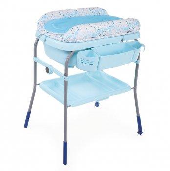 Пеленальный столик с ванночкой Chicco Cuddle & Bubble Голубой 79348.86