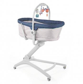 Кроватка-стульчик Chicco Baby Hug 4 в 1 Limited Edition Серый с синим 79173.00