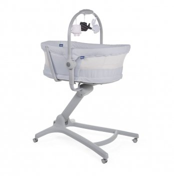 Кроватка-стульчик Chicco Baby Hug Air 4 в 1 Светло-серый 79193.85.00