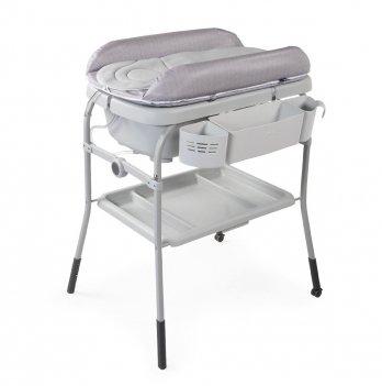Пеленальный столик с ванночкой Chicco Cuddle & Bubble Серый 79348.34