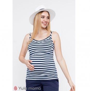 Майка для беременных и кормящих MySecret May Сине-белый NR-20.052
