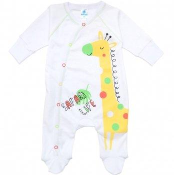 Комбинезон Minikin от 1 до 12 месяцев белый желтый Жираф