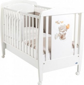Кроватка детская Cam Orso, бук, белая