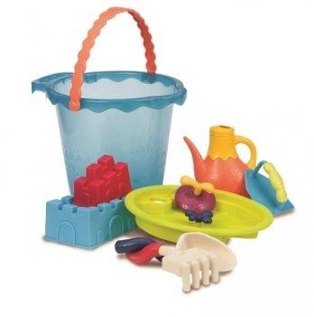Набор для игры с песком и водой Battat, Мега-ведёрце Море, 9 предметов