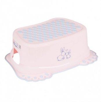 Ступенька детская Tega baby Зайчики Розовый KR-006-104
