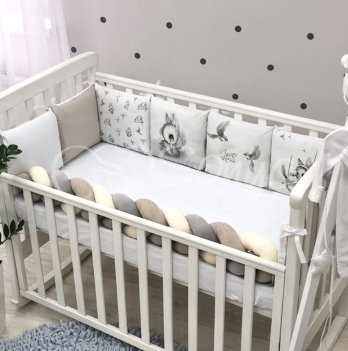 Бортики в кроватку Маленькая Соня Art Design Majestic Белый 0739427