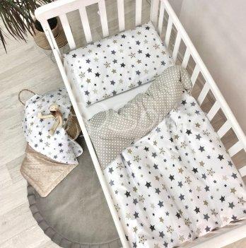 Комплект постельного белья Маленькая Соня Baby Design Stars Серый 0320228 3 предмета