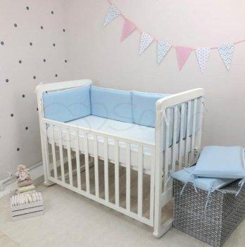 Набор защиты для кроватки Nice Маленькая Соня 076107 голубой