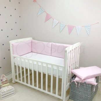 Бортики в кроватку Маленькая Соня NICE Розовый 076109