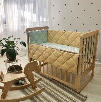 Бортики в кроватку Маленькая Соня Зеленый/Желтый 0787442